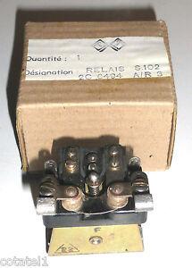 Relais-demarrage-dynamotor-rechange-NOS-NIB-BC604-A-R3-Contacts-Ag-2T-12V-20A