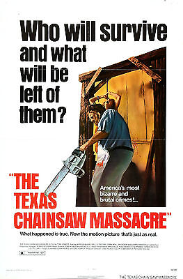 Texas Chainsaw Massacre - Gunnar Hansen - A4 Laminated Mini Movie Poster