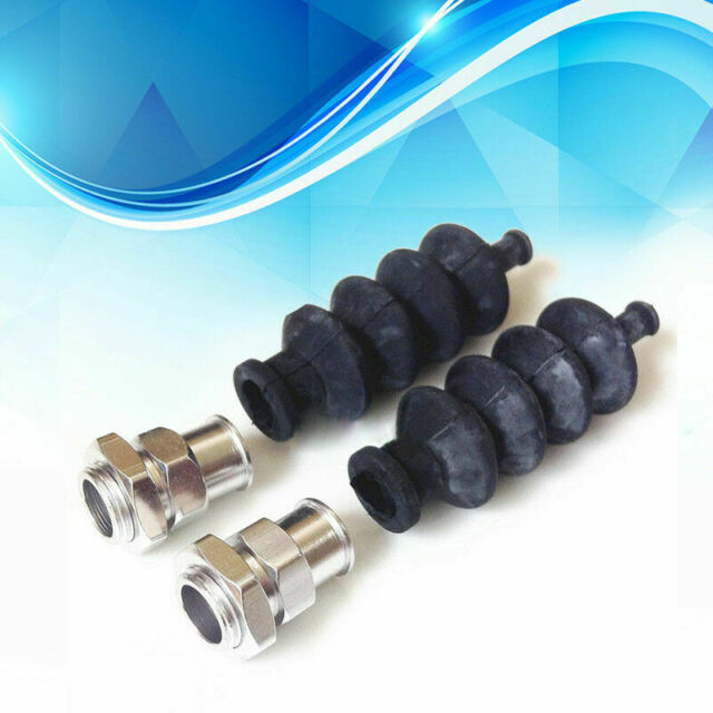 Waterproof push rod rubber seal bellow with aluminum fitting x 2 pcs for RC boat