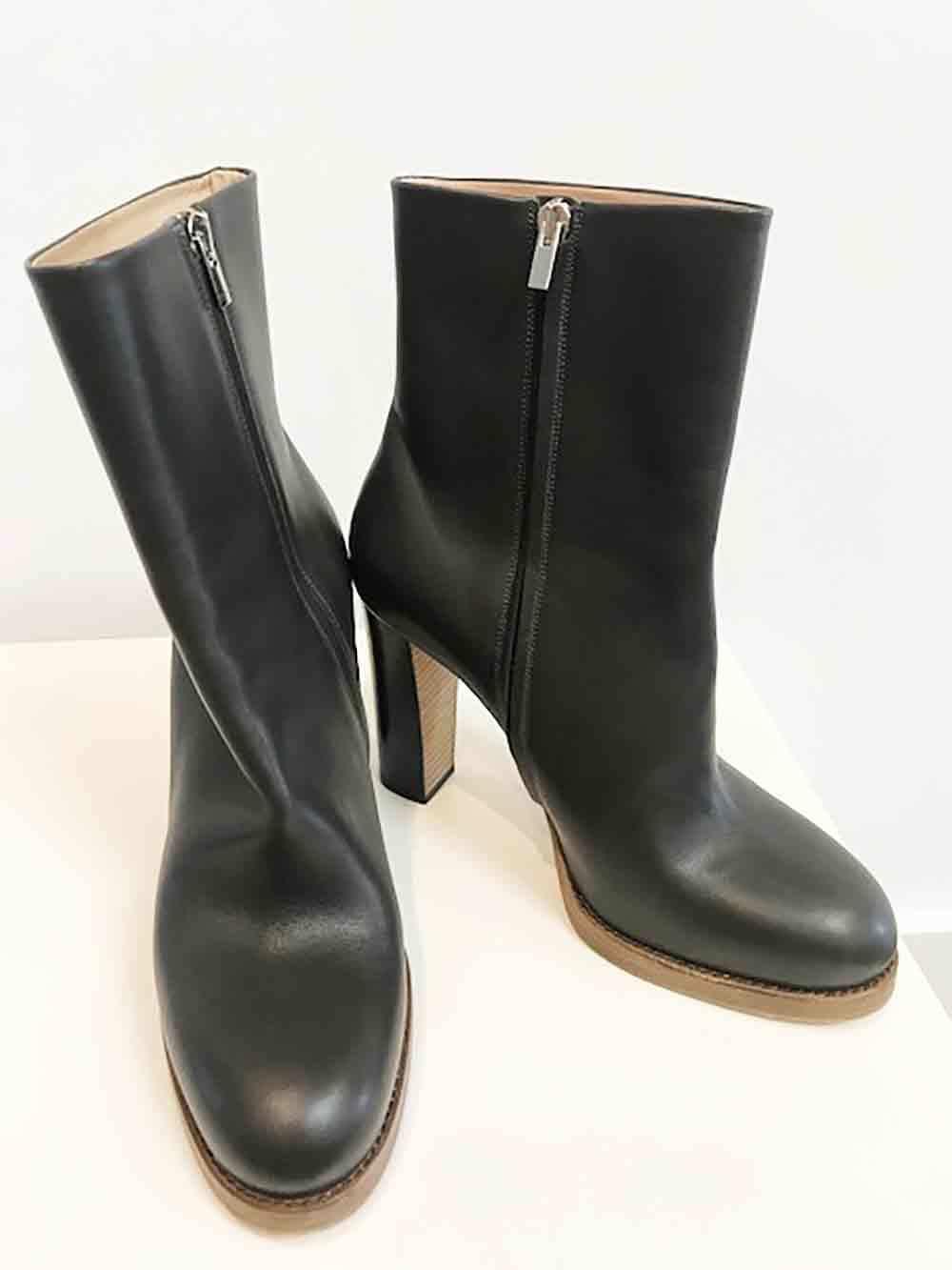 Designer Celine Paris Size 40 brown Leather Perfect Women's Boots
