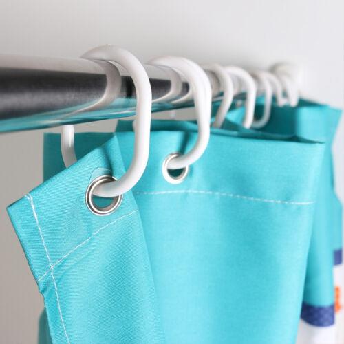 24x Duschvorhang Haken Aufhänger Plastikring Bad drapieren Schleifen Haken Neue