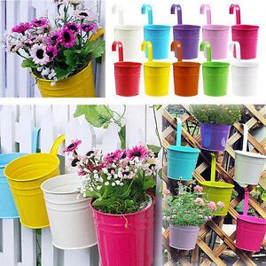 110x Metal Hierro Flor Maceta Colgante Balcon Jardin Planta - Jardinera-colgante