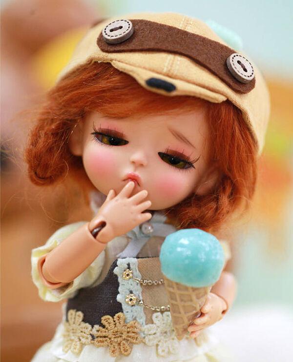 1 8 BJD SD muñeca Lati amarillo G.B místico libre de cara maquillaje ojos + Gratis