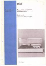 Braun Service Manual für Audio 300 / 310