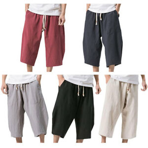 e8f86f59596 Mens Summer Casual Plus Size Harem Loose Elastic Shorts Holiday ...