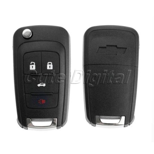 4 Button Remote Flip Key Shell Key Case Fob for CHEVROLET Camaro Equinox Cruze