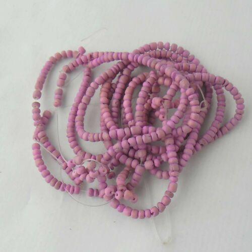 rose fuchsia //- 4 fils de perle Coco rocaille de 40 cm chacun diamètre 4 mm