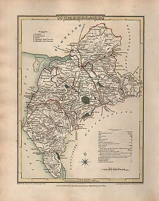 1816 County Map G Cole & J Roper : Cumberland Strong Packing