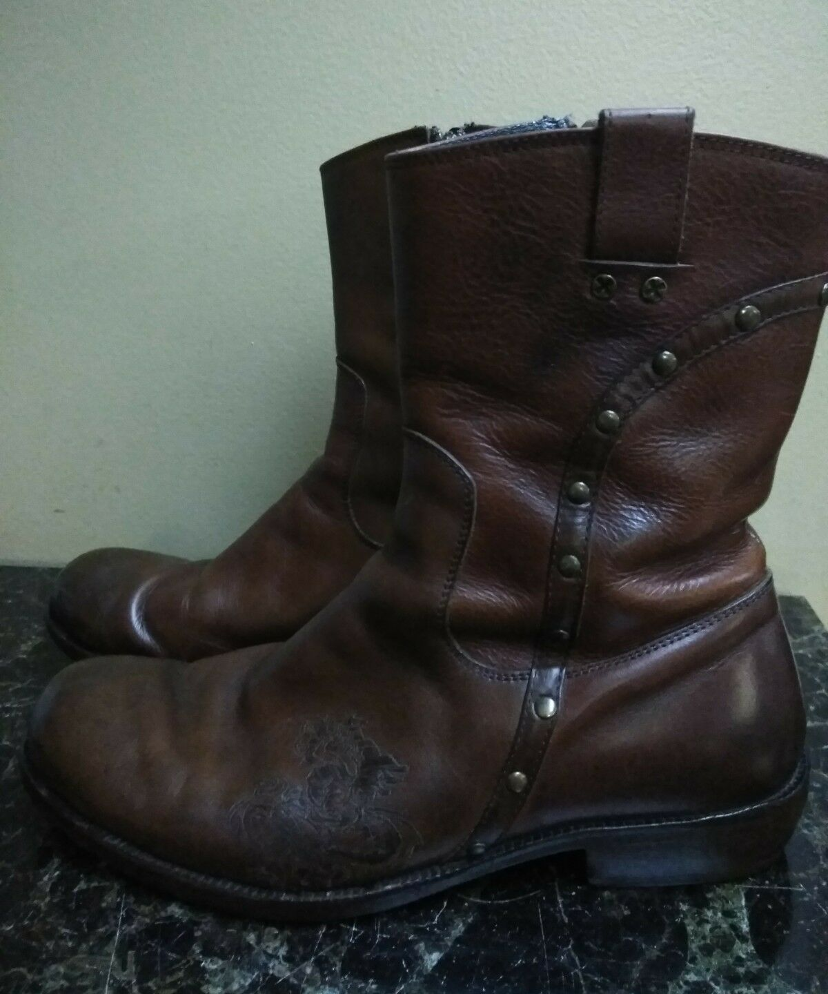 Mark Nason Rock Never Dies Mens Leather Boots 8