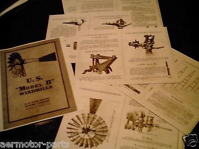 USWE  Model E  Windmill Diagrams /& Trade Literature