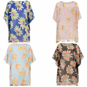 f794402cb6 Image is loading Women-Beach-Cover-Up-Summer-Light-Kaftan-Colourful-