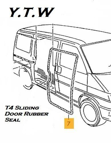 VW TRANSPORTER T4 SIDE SLIDING DOOR RUBBER SEAL FITS BOTH SIDES **BRAND NEW ****