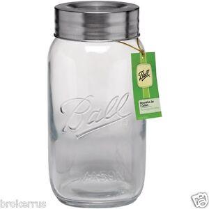 image is loading 1 gallon large decorative mason jar w lid - Large Glass Jars With Lids