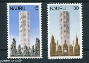 NAURU-1977-timbres-147-148-ARCHITECTURE-HOUSE-MELBOURNE-neufs-MNH-STAMPS