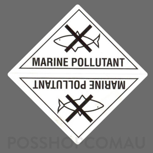 500 x Dangerous Goods Marine Pollutant Label Stickers Triangle