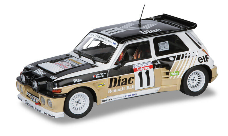 Solido Renault 5 Maxi Turbo 1985 1 18  11 Chatriot   Périn Tour de Corse 1987