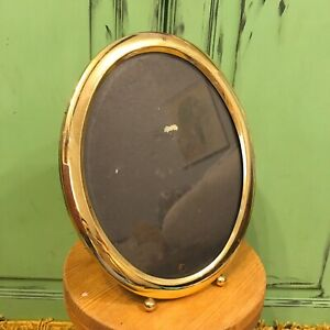 Vintage-X2-Oval-Picture-Photo-Frames-Brass