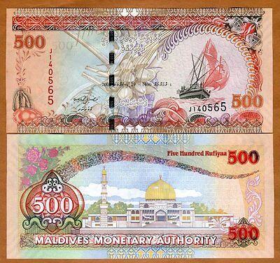 Maldives, 500 Rufiyaa, 2008, P-24 (24b), UNC