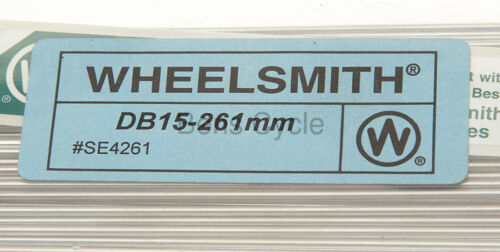 Wheelsmith DB15 Spokes Double Butted 261mm 15g 1.8//1.5//1.8 Lot of 10 Silver NEW
