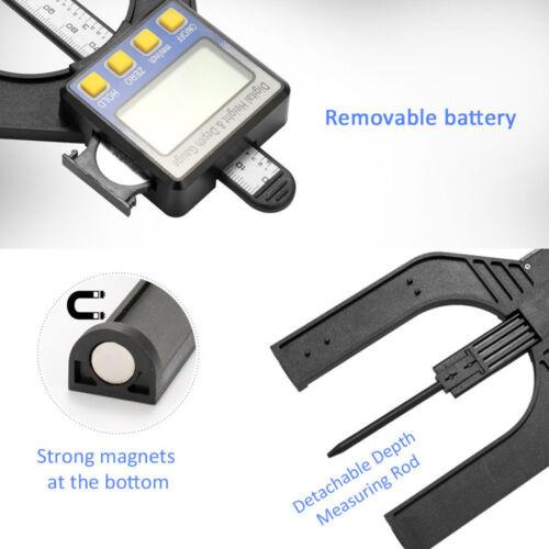 LCD Digital Height Depth Gauge Slide Caliper Vernier Ruler 0-80mm Measuring Kit