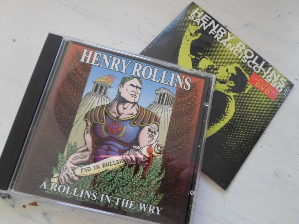 Henry Rollins: 2 styks CD & DVD, punk