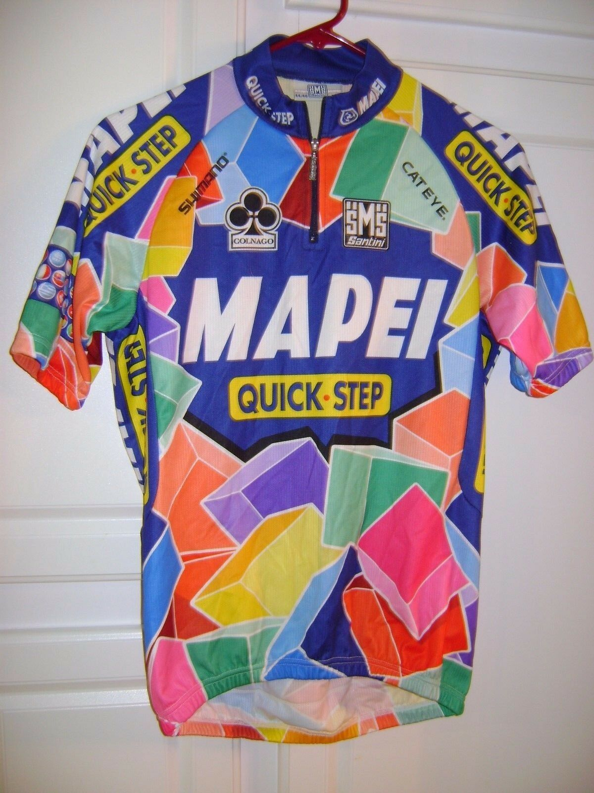 SMS  Santini Vintage MAPEI Cycling JERSEY Men's Medium 44 46  outlet sale