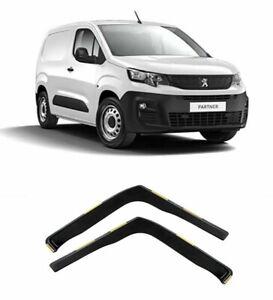 Wind Deflectors 2pc Set Dark Smoke For Peugeot Partner Vauxhall Combo 2018+