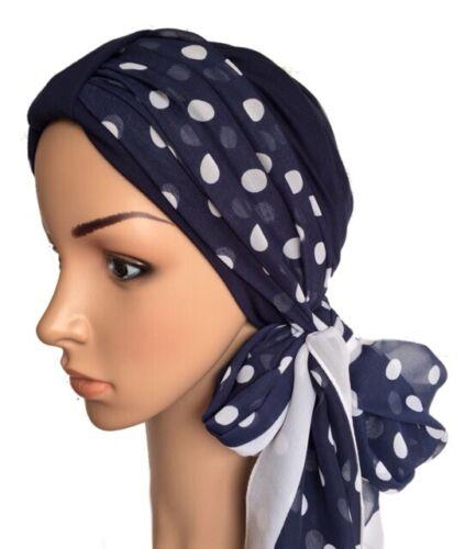 Coiffure pour perte de cheveux 2 Pièce Turban /& foulard chimio Hats Alopécie