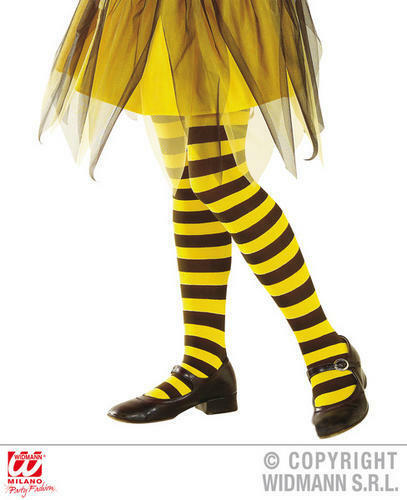 Girls Kids Childs Bee Tights Yellow/Black Fancy Dress Costume Outfit 1-3 Yrs