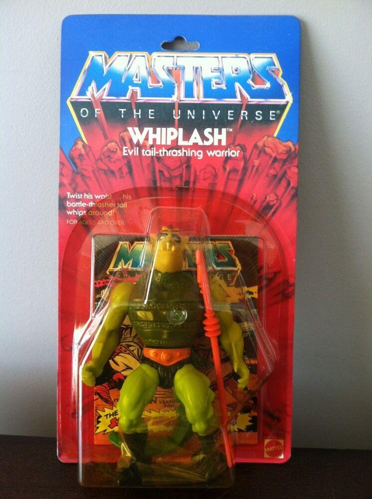 Mattel MOTU, Whiplash, Masters of the Universe, MOC, carded,  He Man, sealed