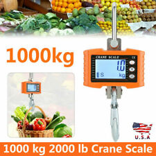 Crane Scale 1000 Kg 2000 Lb Digital Industrial Hanging Weight Scale Lcd Displays