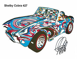Shelby Cobra 427 Ford Sports Race Car Print Poster Wall Art 8.5x11