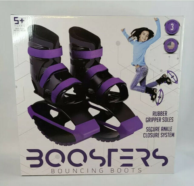 Madd Gear Boosters Black Purple Bounce Boots | Fits Kid's US Shoe Size 3-6 NEW