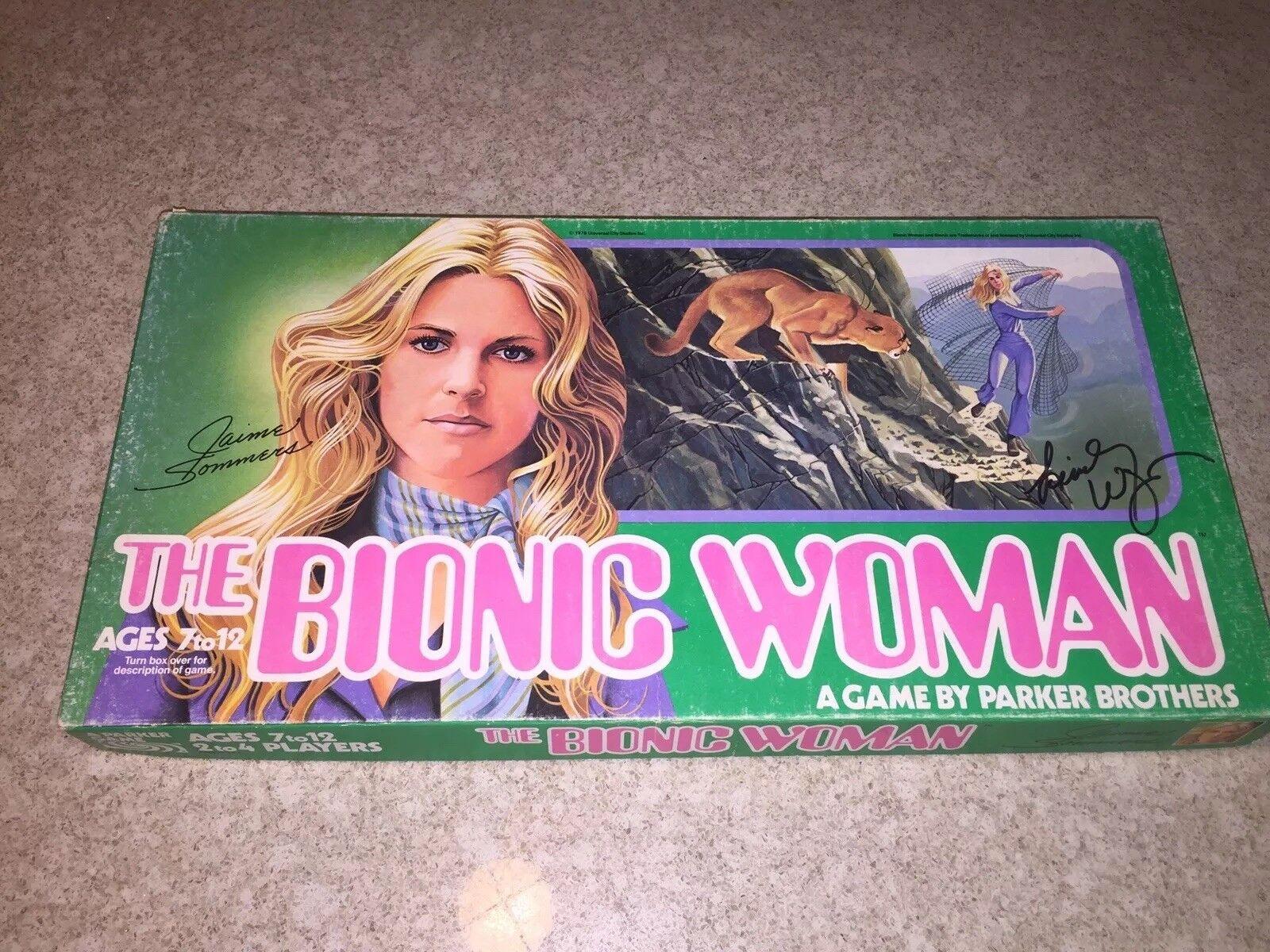 2018 La Mujer Biónica Juego, completa y firmado por Lindsey Wagner