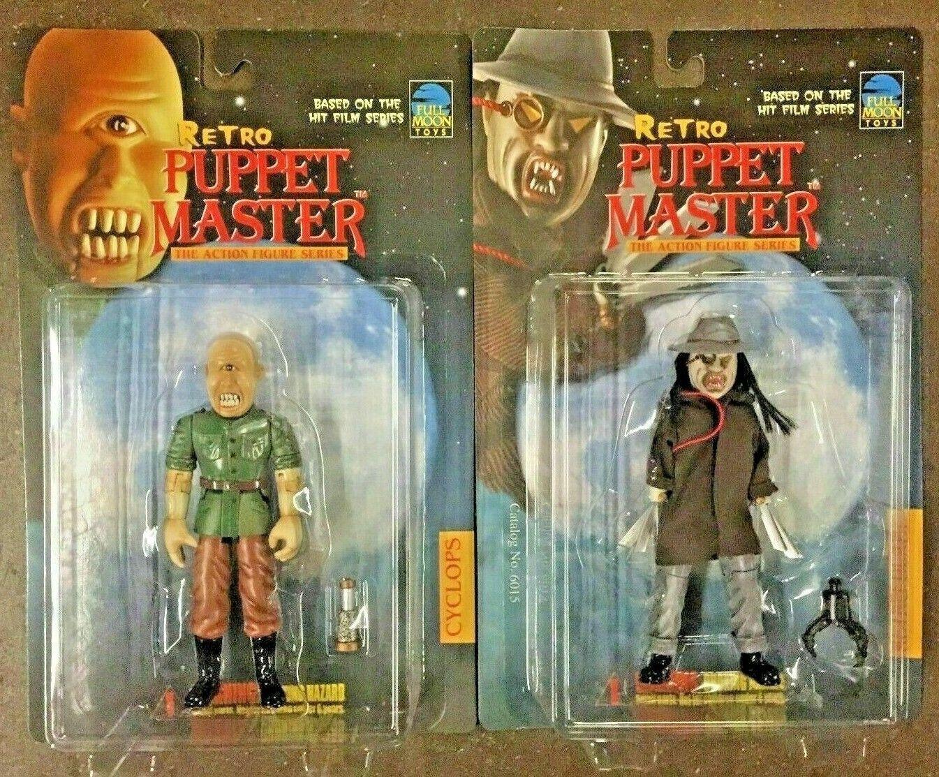 Full Moon Toys 1999 Retro Puppet Master Master Master Blade & Cyclops Horror Action Figure Set 4f60d0