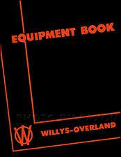Jeep Optional Equipment Manual 1946 1947 1948 1949 CJ2A CJ 2A and Truck Body