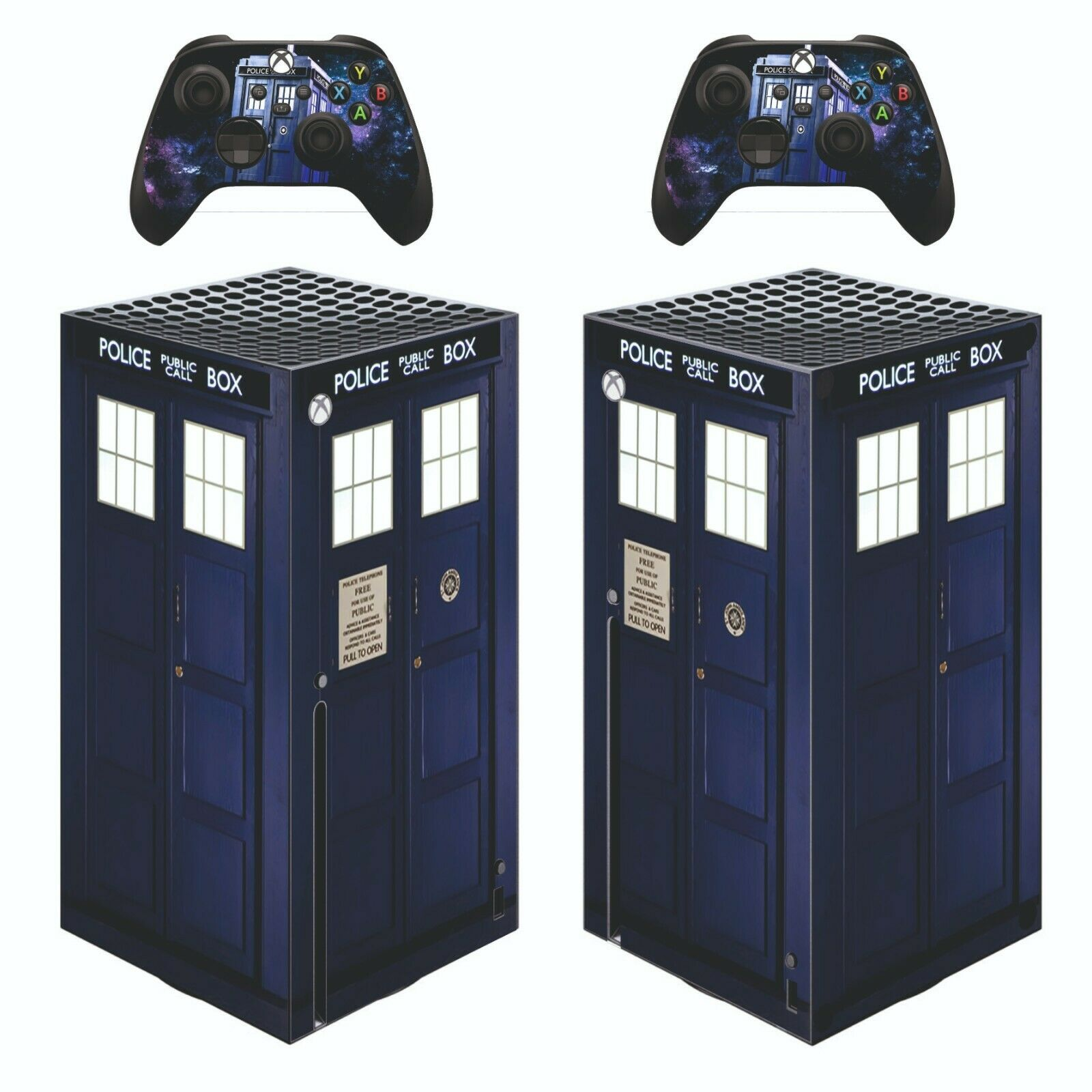 XBOX SERIES X Sticker DR WHO TARDIS skin decal game cover