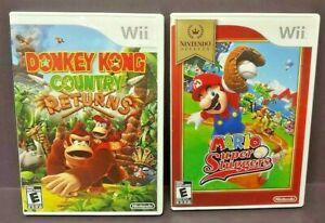 Donkey-Kong-Country-Returns-Mario-Super-Sluggers-Nintendo-Wii-Wii-U-2-Game-Lot