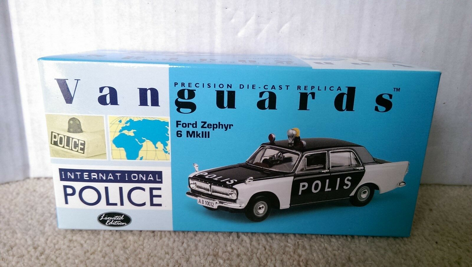 Corgi Vanguards VA04605 Ford Zephyr 6 Mk.III Swedish Police Ltd Ed. 0001 of 2300