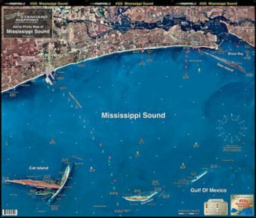 Standard Laminated Map Biloxi Miss Sound