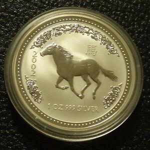 Australia-1-Lunar-I-034-Year-of-the-Horse-034-1-oz-2002-silver-99-9