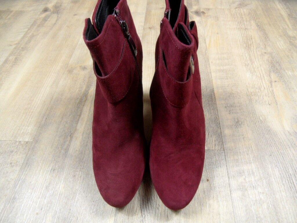 GERRY WEBER chice Wildleder AnkleStiefel NEU Stiefeletten bordeaux Gr. 37 NEU AnkleStiefel ZC1217 32a706