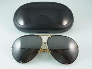 Porsche-Design-Sonnenbrille-Vintage-5621-Piloten-Brille-Vergoldet