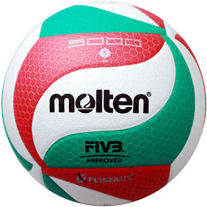 Molten Volley DVV 1 wettspielball v5m5000-de Blanc/Vert/Rouge Taille 5