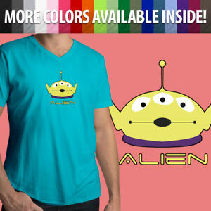Mens-Unisex-Tee-V-Neck-T-Shirt-Toy-Story-Squeeze-Alien-Little-Green-Disney-Pixar
