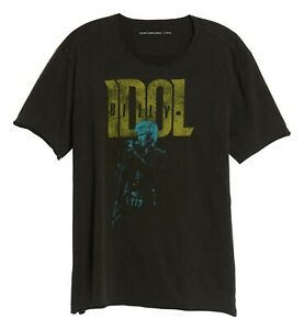John-Varvatos-Star-USA-Men-039-s-Billy-Idol-Hot-In-The-City-Graphic-T-Shirt-Black