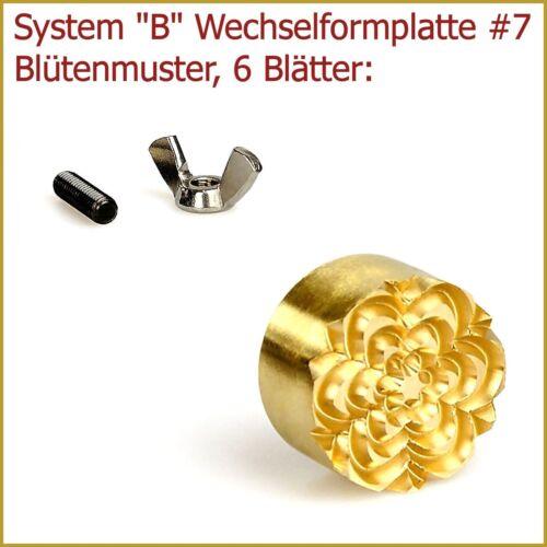 """Fleurs Motif 6 feuilles Un changement formplatte système /""""B/""""//#7"""