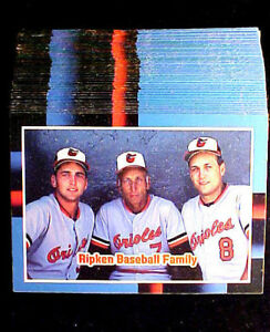 Details About 1988 Donruss Cal Ripken Jr 100 Card Lot The Ripken Baseball Family Card