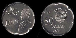 Juan Carlos 1º .50 Pesetas 1990. King