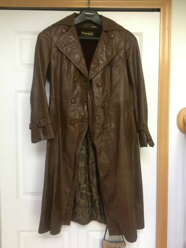 Woman's Vintage Leather Trench